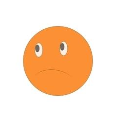 Sad unhappy emoticon icon cartoon style vector image