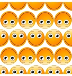 smile emoji seamless vector image vector image