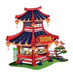 sushi bar vector image vector image