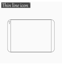 tablet computer icon Style thin line vector image vector image