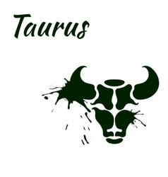 Zodiac sign taurus vector