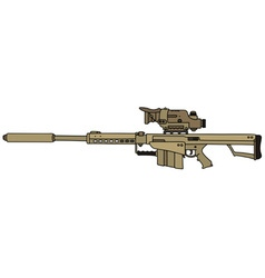 Sand big sniper rifle vector
