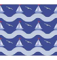 Seamless marine pattern vector