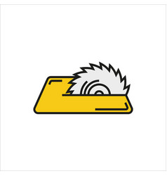 Saw icon on white background vector
