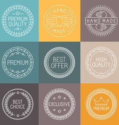 Set of premium labels vector