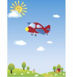 airplane cartoon vector image