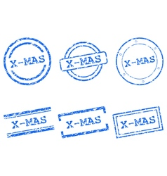 X-mas stamps vector