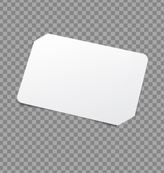 White card template vector