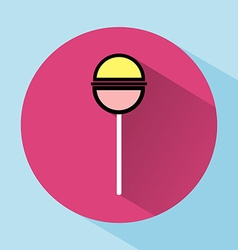 Lollipop colorful round icon vector