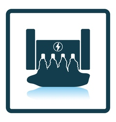 Hydro power station icon vector