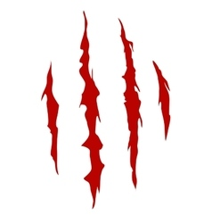 Claws scratch mark vector