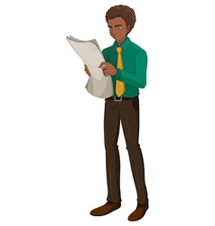 A business man reading vector image vector image