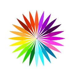 Abstract color flower vector image