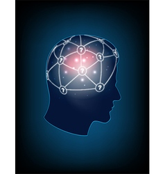 Abstract design human head and symbolic elements vector image vector image