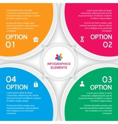 Abstract elements of infographics four options vector image vector image