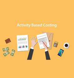 Activity based costing with a man vector