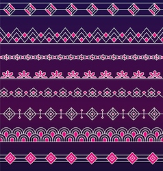 Art deco borders style line and geometric linear vector