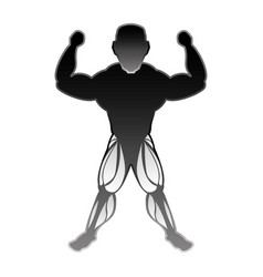 Bodybuilding man silhouette vector