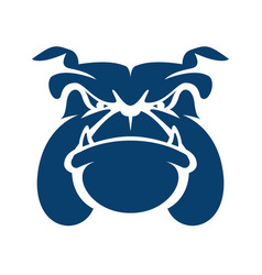 bulldog head cartoon mascot logo vector image