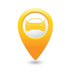 car3 MAP pointer yellow vector image vector image