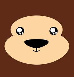 cartoon monkey background vector image