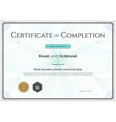 VectorStock  Certification Of Completion Template