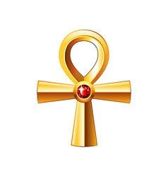 Egyptian cross ankh isolated on white vector image vector image