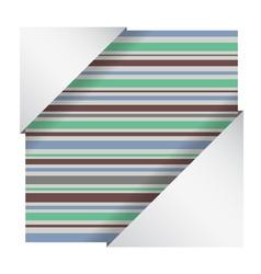 elegant striped card vector image vector image