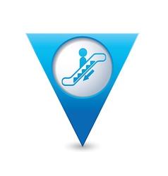 Escalator icon map pointer2 blue vector