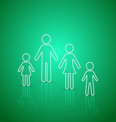 Family members outline icons vector