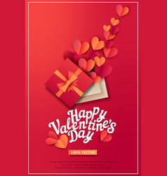 for valentines day gift box and vector image vector image
