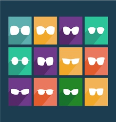 glasses icons Silhouette of Sunglasses vector image vector image