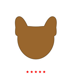 Head of dog it is icon vector