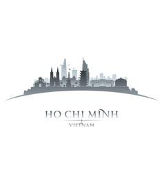 Ho chi minh city vietnam skyline silhouette white vector