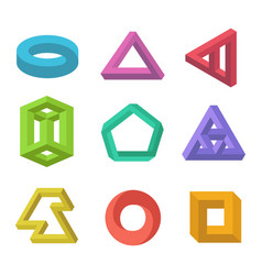 Impossible objects set vector
