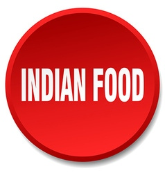 Indian food red round flat isolated push button vector