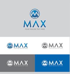 Max with executive m logo vector