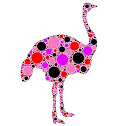 ostrich silhouette vector image vector image