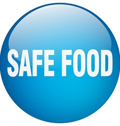 Safe food blue round gel isolated push button vector