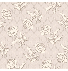 Seamless rose pattern vector image