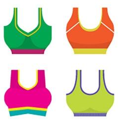 Set Of Colorful Women Sport Bra vector image vector image