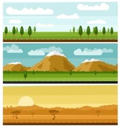 Set of picturesque landscapes vector image