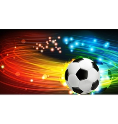 Shining soccer ball vector