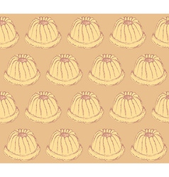 Sketch tasty muffin in vintage style vector image