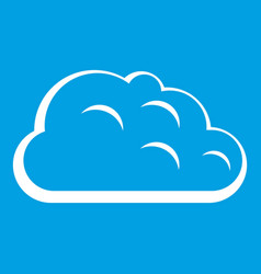 Storm cloud icon white vector