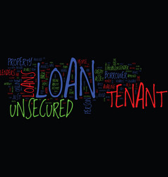 Tenants end your hunt for loan unsecured tenant vector