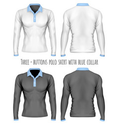 three-button placket polo vector image vector image