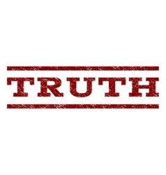 Truth watermark stamp vector