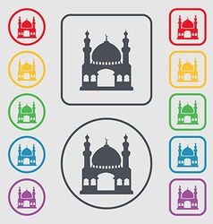 Turkish architecture mosque icon sign symbol on vector image