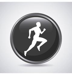 Man running icon sport design graphic vector